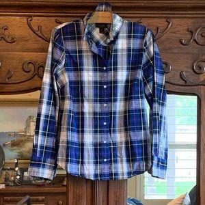 J. Crew Spring Plaid Perfect Shirt Sz 10